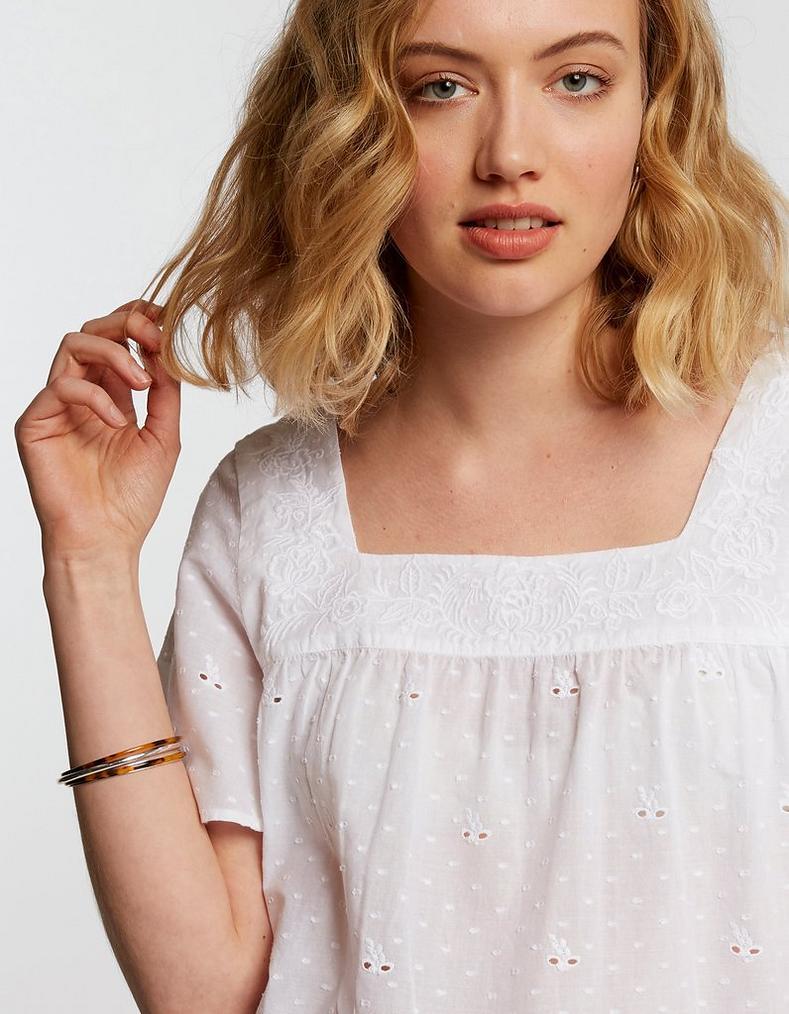fe14fa4b04894b Lizzie Broderie Blouse, Tops & T-Shirts | FatFace.com