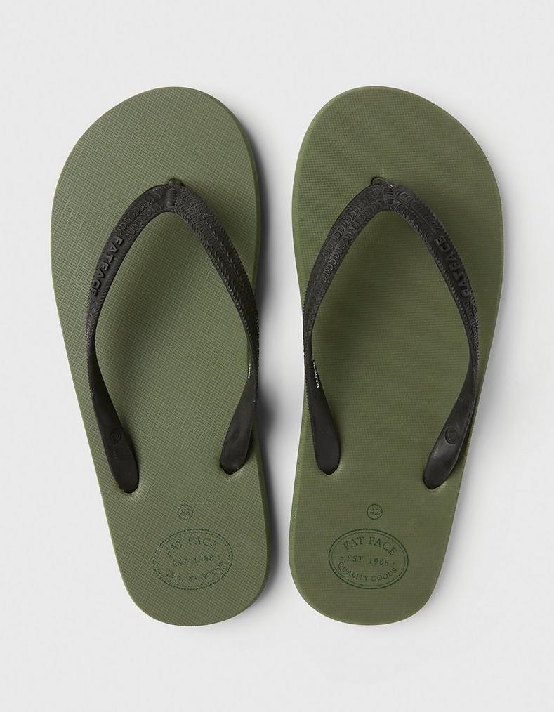 b7cc245b8 Khaki Henley Flip Flops