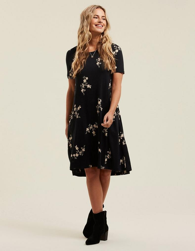 Simone Silhouette Ditsy Dress by Fat Face