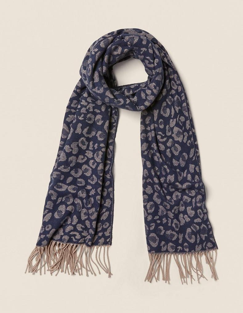 Leopard Jacquard Scarf by Fat Face