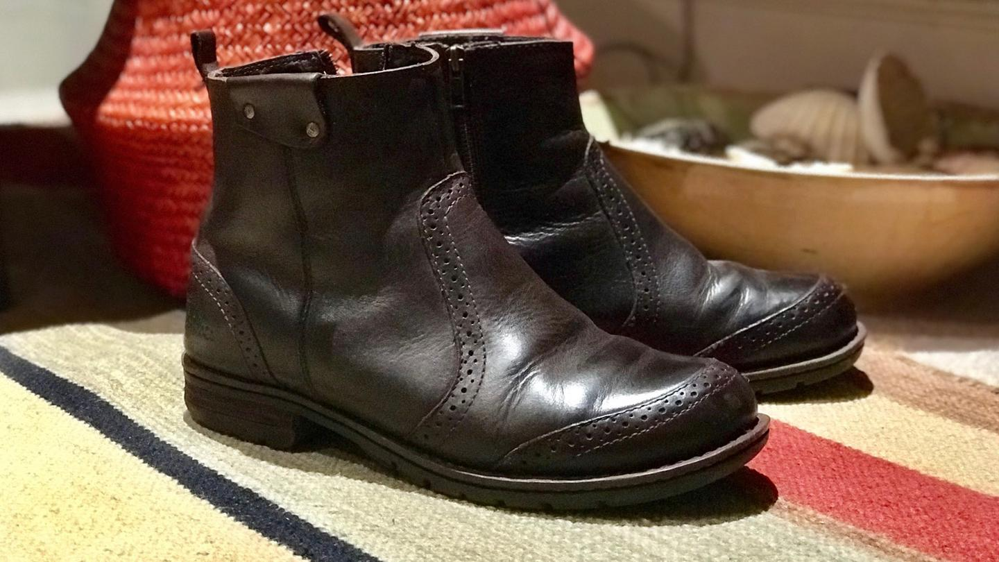 Peter's 8-years-old FatFace leather boots