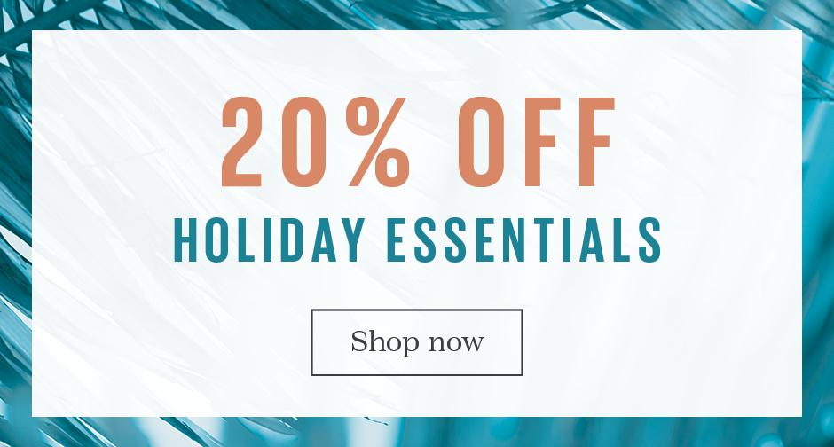 20% off Men's and Women's holiday shop
