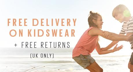 Free delivery on kidswear and free uk returns.
