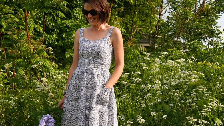 Jess wearing the Liberty Dress from FatFace