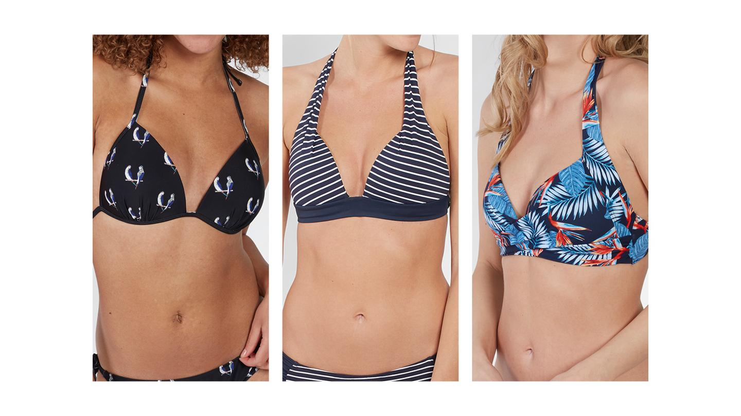 38ebf435bc2bf A collection of moulded cup bikini tops from FatFace