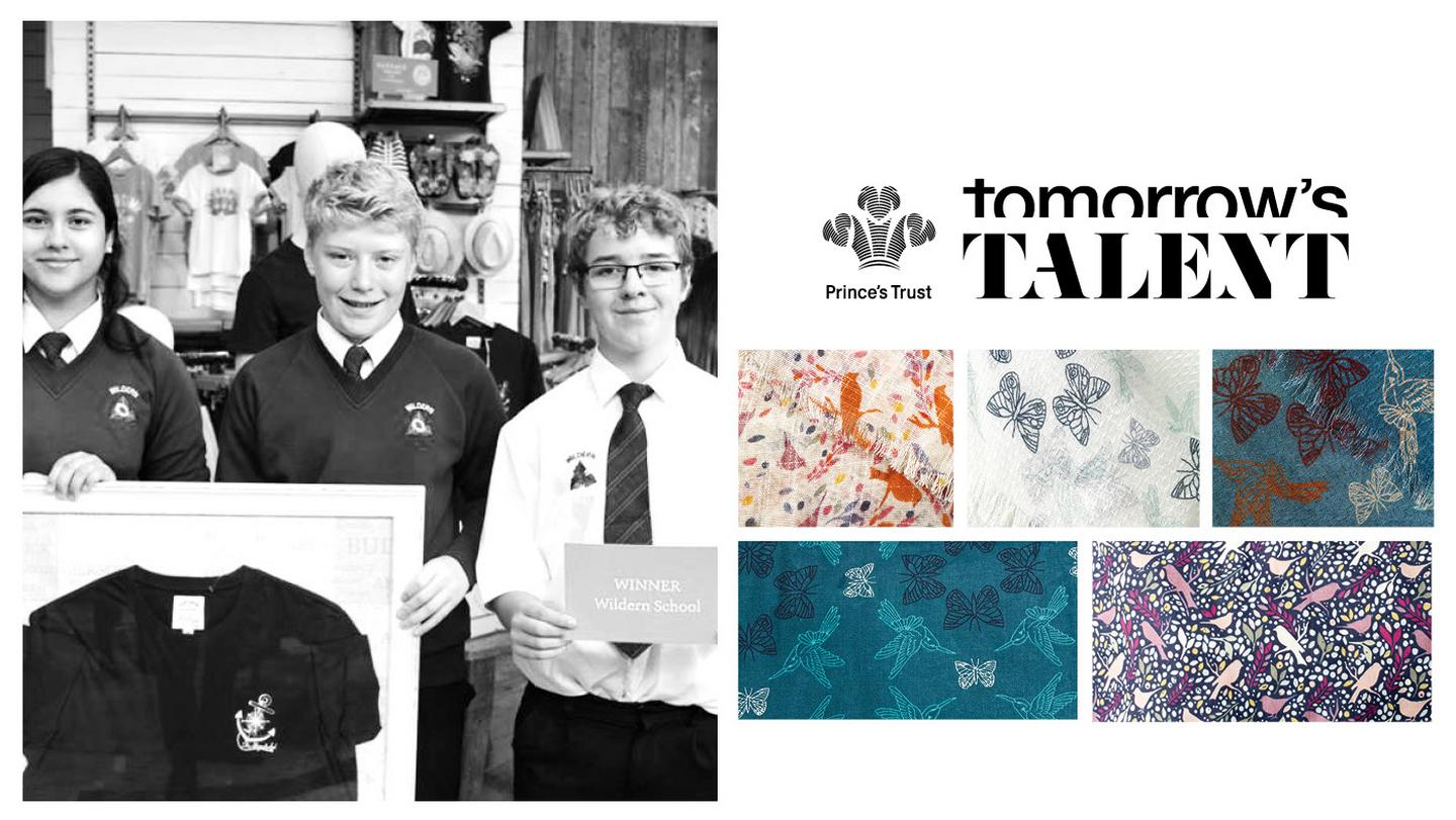 Children on the Fresh Face project, and a collection of Tomorrow's Talent winning designs.