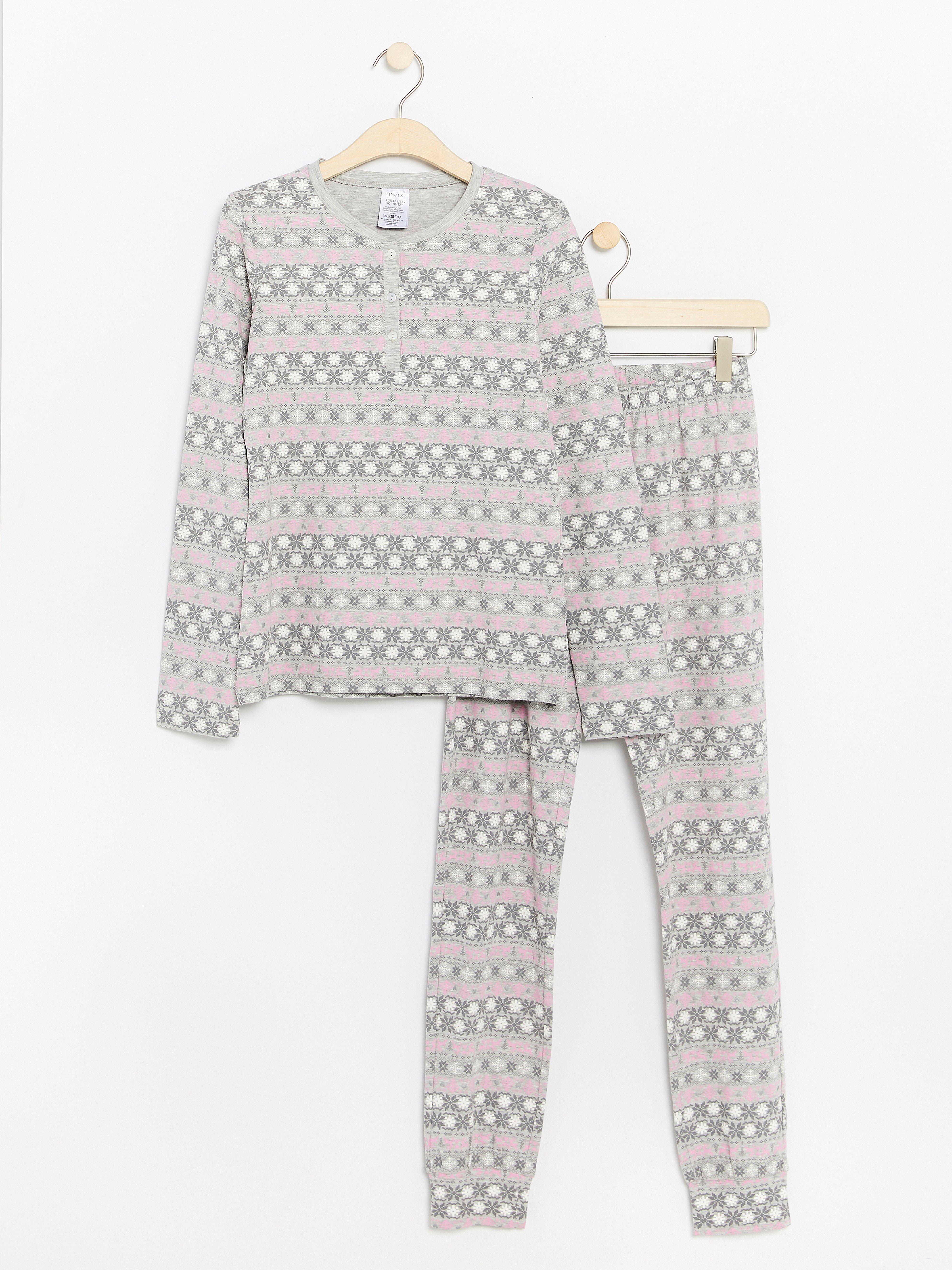 Mönstrad pyjamas Lindex - KompisShopping 6e290598255c2