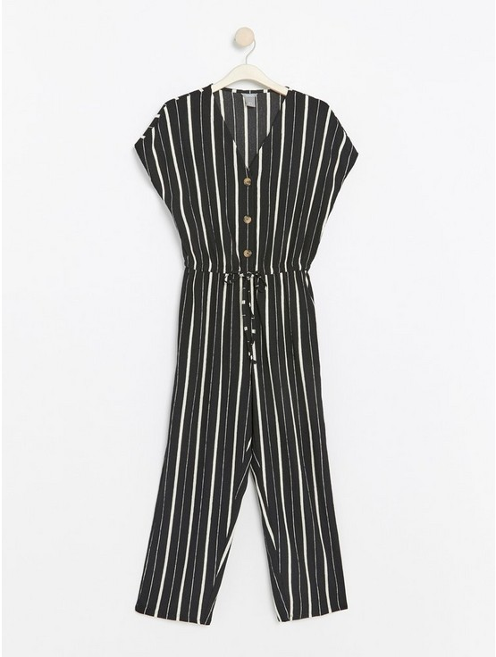8d6e5256f1a Striped jumpsuit with cropped legs