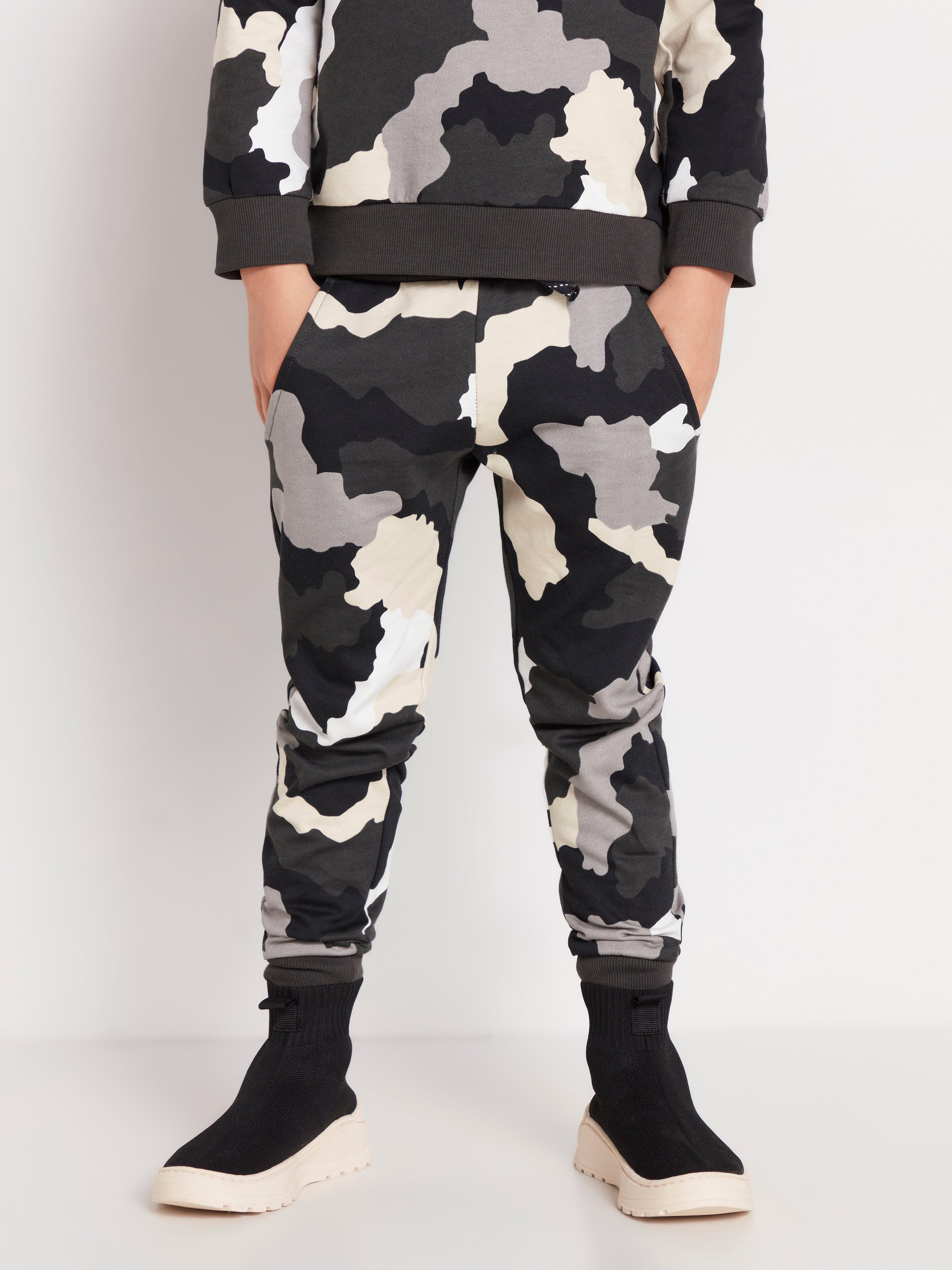 Kamouflagemönstrade sweatpants