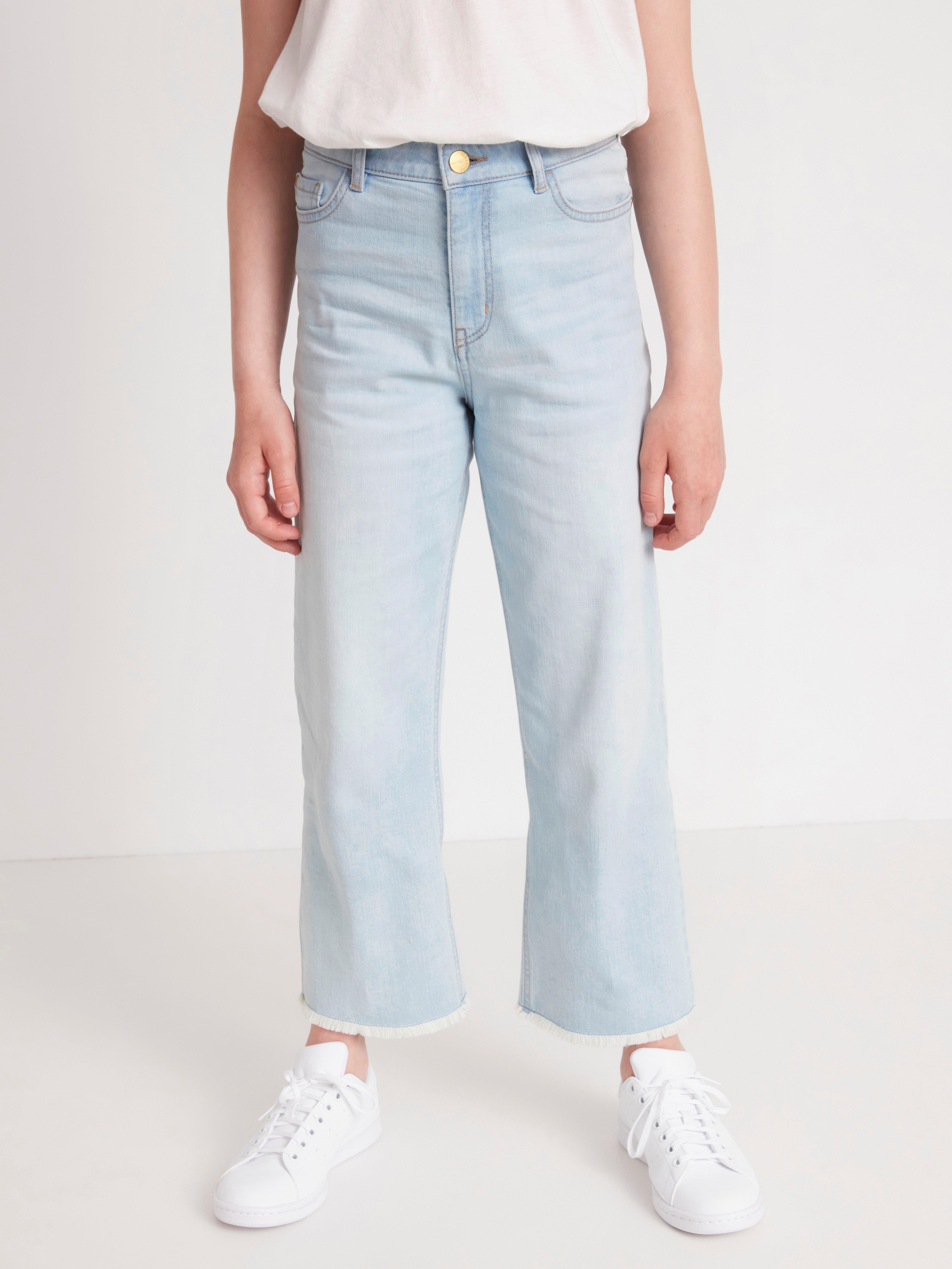 Jeans med croppade ben