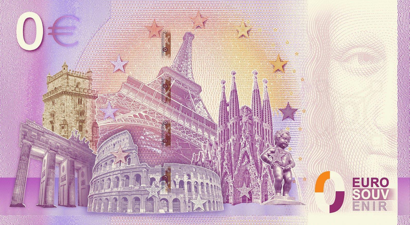 0 Euro Banknote 100 Jahre Freistaat Bayern 135mm X 74mm Münzen