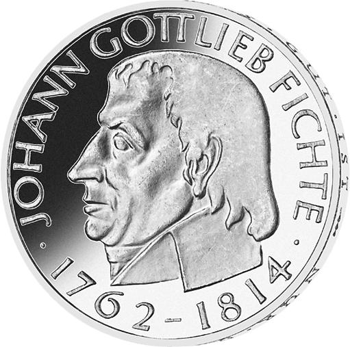 5 Dm Münze Johann G Fichte Deutschland 1964 Münzen Günstigerde