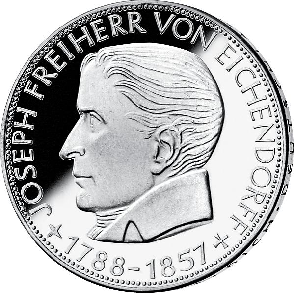 5 Dm Münze Frh V Eichendorff Deutschland 1957 Münzen Günstigerde