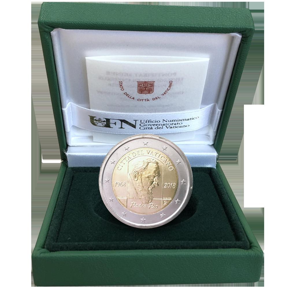 2 Euro Münze Vatikan 50 Todesjahr Von Pater Pio 2018 Pp Münzen