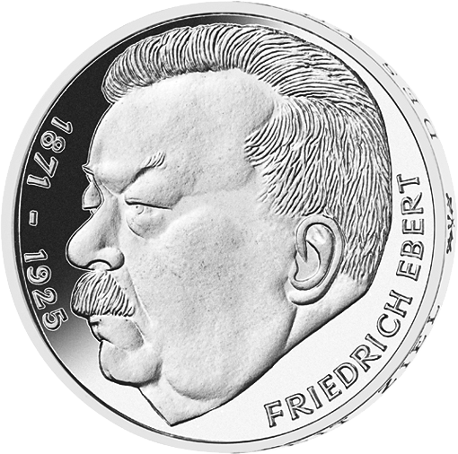 5 Dm Münze Friedrich Ebert 1975 Münzen Günstigerde