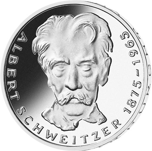 5 Dm Münze Albert Schweitzer 1975 Münzen Günstigerde