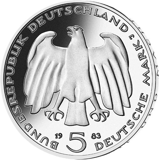5 Dm Münze Karl Marx Deutschland 1983 Münzen Günstigerde