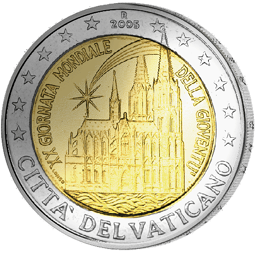 2 Euro Vatikan Weltjugendtag In Köln 2005 Münzen Günstigerde