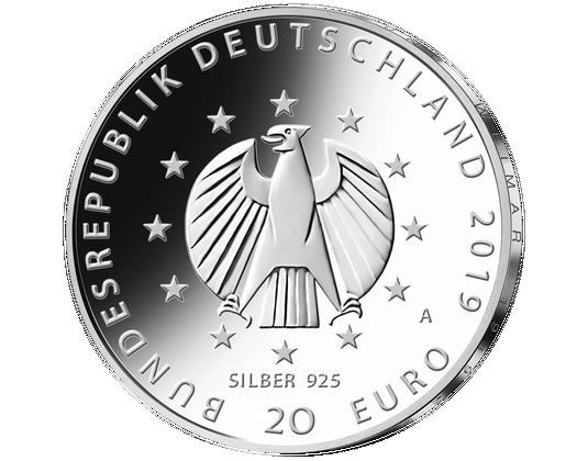 20 Euro Münze 2019 Farbveredelung Weimarer Reichsverfassung Mdm