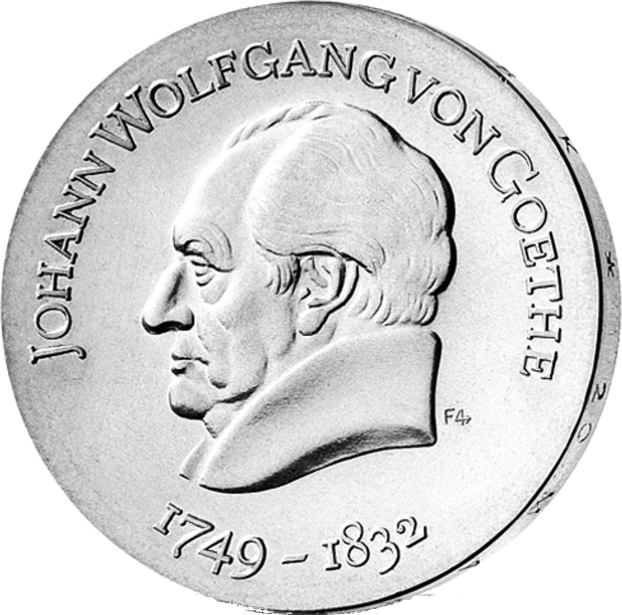 20 Mark Silber Münze Ddr Goethe 1969 Münzen Günstigerde