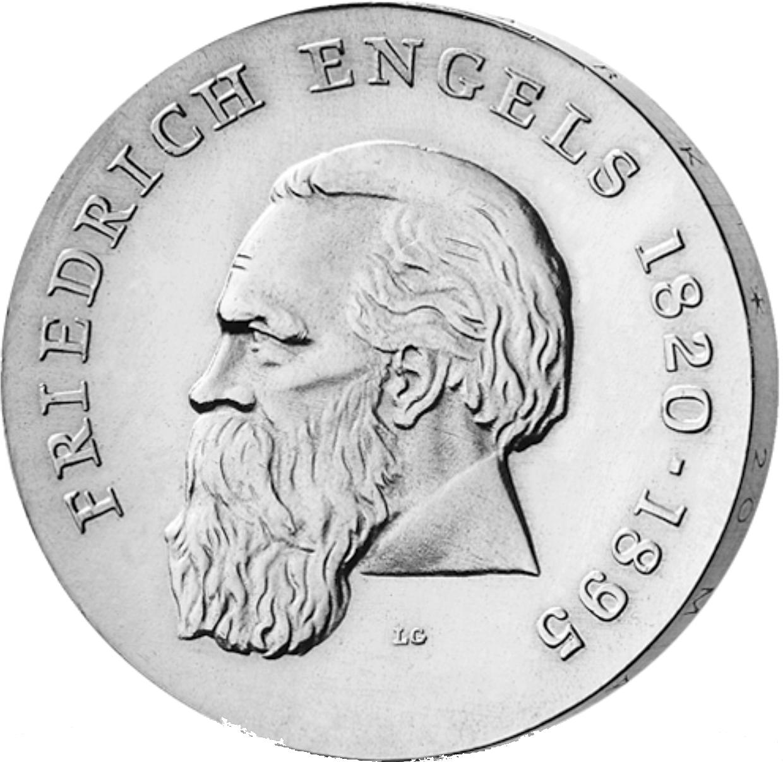 20 Mark Silber Münze Ddr Engels 1970 Münzen Günstigerde