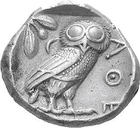 """Die   wichtigste altgriechische Silbermünze - eine """"Eule aus   Athen""""!"""
