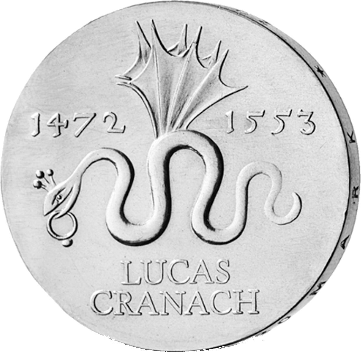 20 Mark Silber Münze Ddr Cranach 1972 Münzen Günstigerde