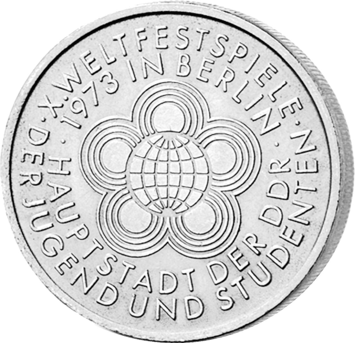 10 Mark Neusilber Weltfestspiele Ddr 1973 Münzen Günstigerde