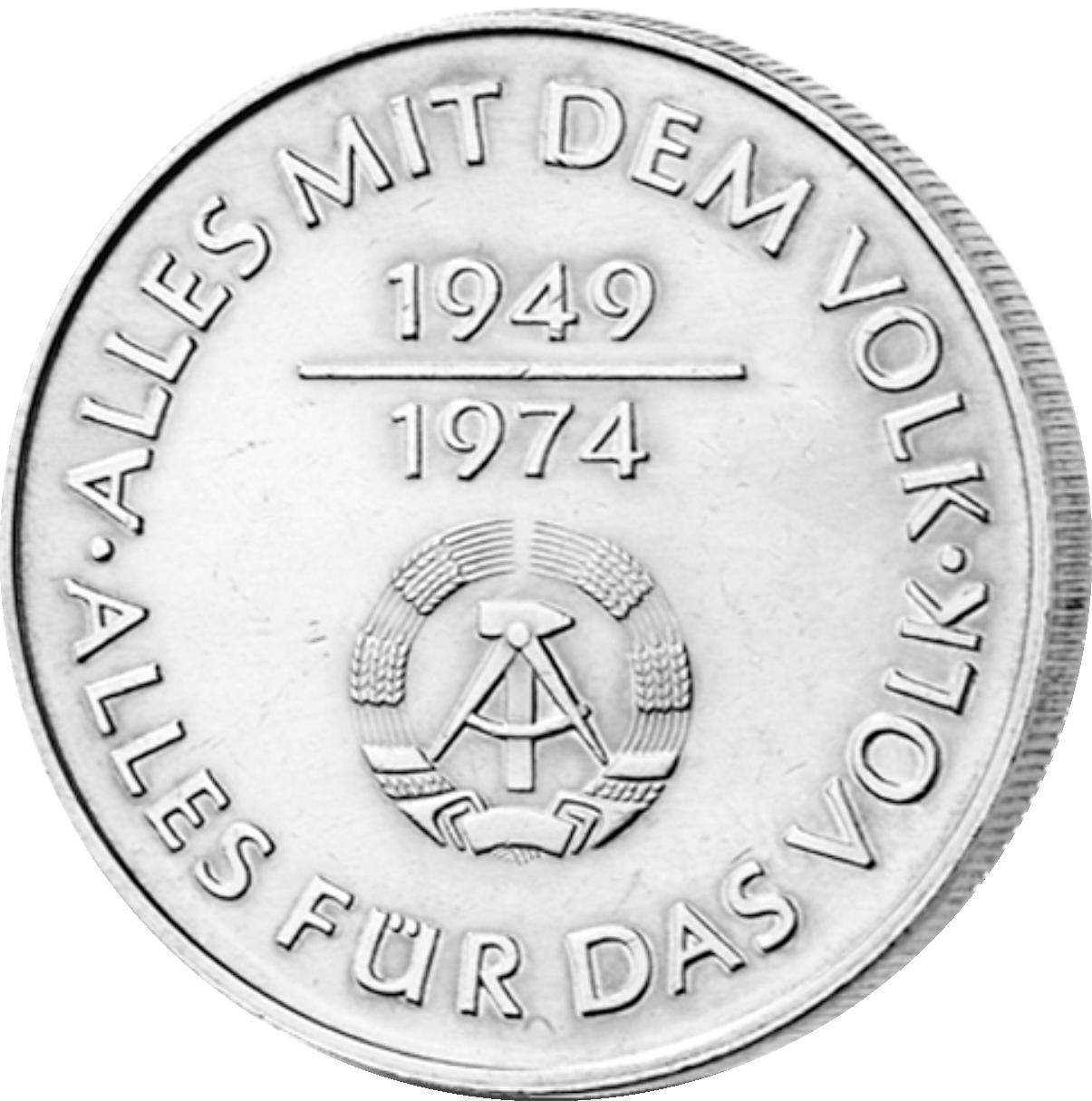 10 Mark Neusilber 25 Jahre Ddr 1974 Münzen Günstigerde