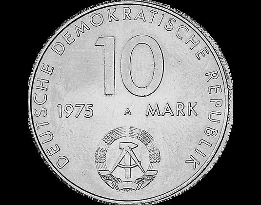 10 Ddr Mark 1975 Warschauer Vertrag Mdm Deutsche Münze