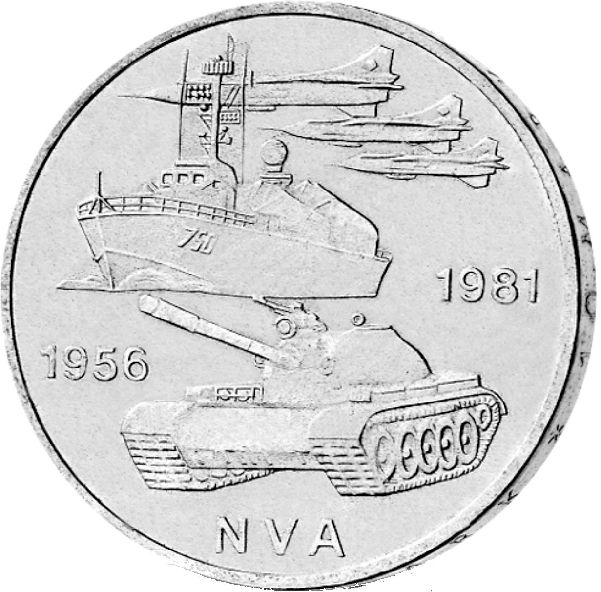 10 Mark Neusilber 25 Jahre Nva Ddr 1981 Münzen Günstigerde
