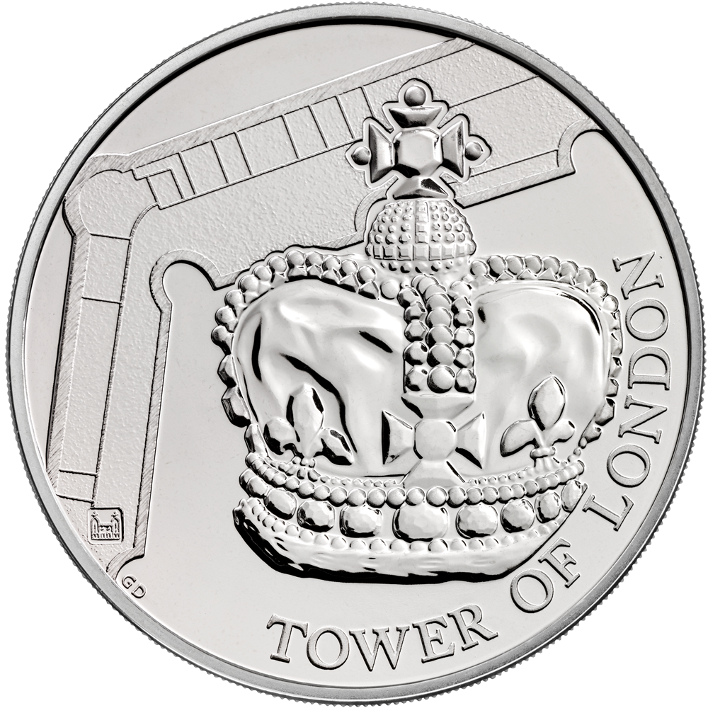 5 GBP Münze Großbritannien The Tower of London - Die Kronjuwelen 2019 ST