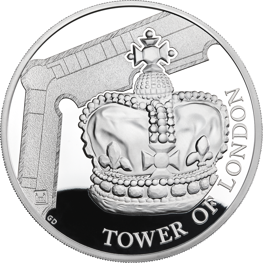10 GBP Silbermünze Großbritannien The Tower of London - Die Kronjuwelen 2019 PP