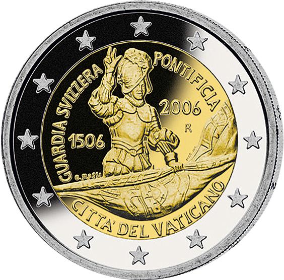 2 Euro 500 J Schweizergarde Vatikan 2006 Münzen Günstigerde