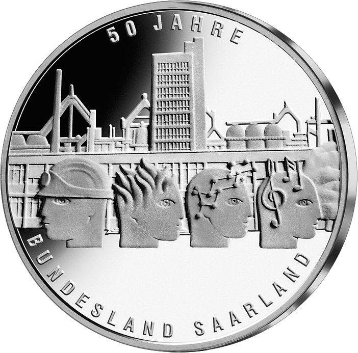 10 Euro Silber Münze Saarland 2007 10 Euro Münzen Euro Münzen