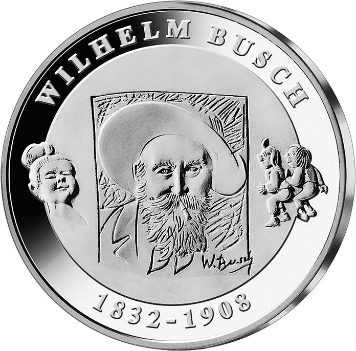10 Euro Silber Münze Wilhelm Busch 2007 10 Euro Münzen Euro
