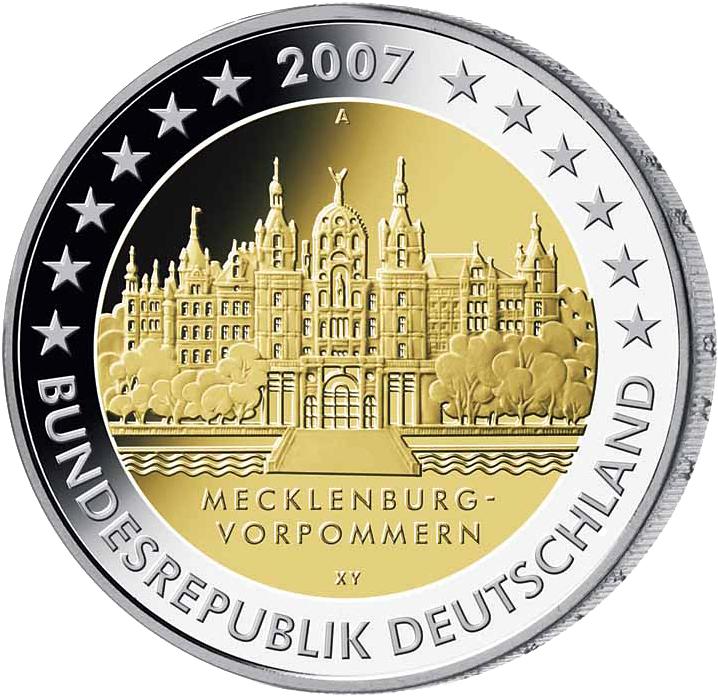 2 Euro Münze Mecklenburg Vorpommern Deutschland 2007 Münzen