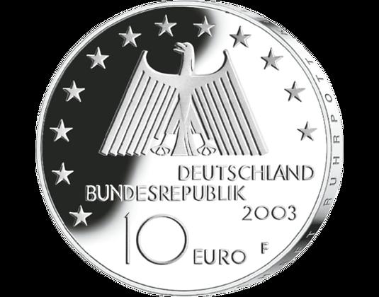 10 Euro Münze Ruhrgebiet Mdm Deutsche Münze