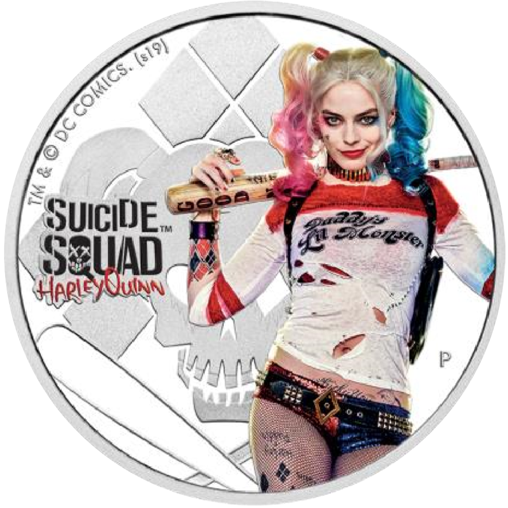1 TVD Silbermünze Tuvalu Suicide Squad - Harley Quinn 2019 PP