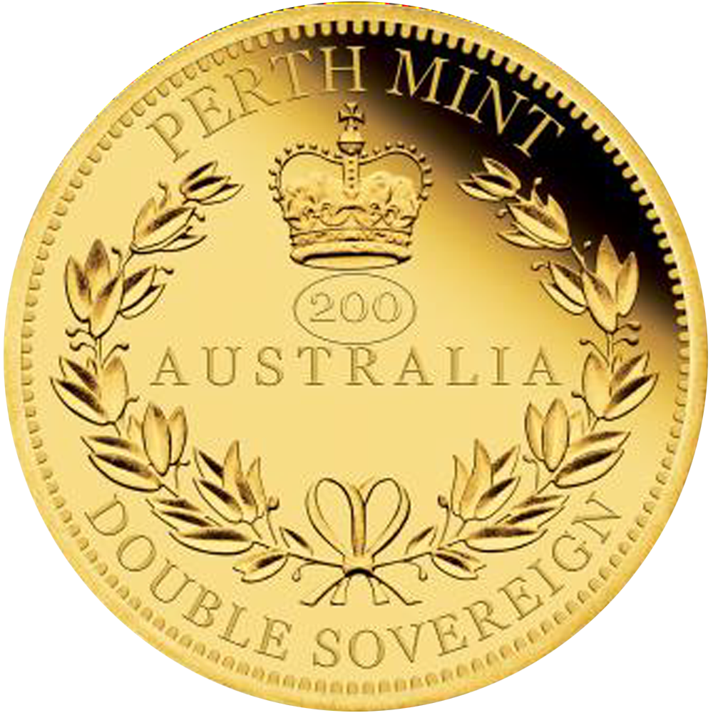 50 AUD Goldmünze Australien Double Sovereign 2019 PP