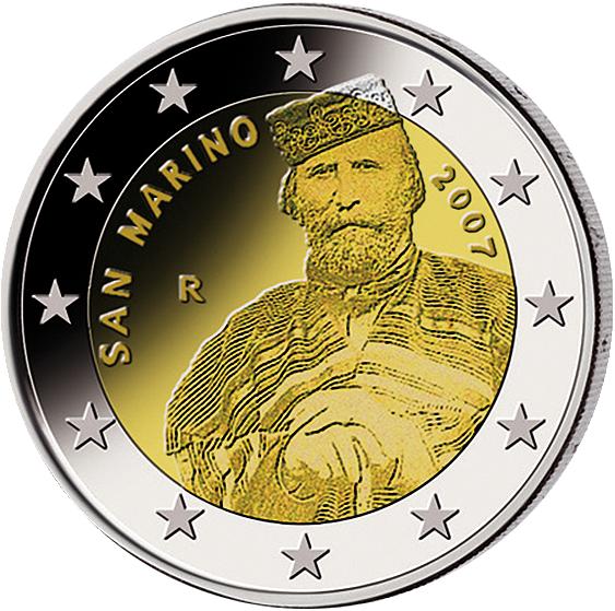 2 Euro Giuseppe Garibaldi San Marino 2007 Münzen Günstigerde