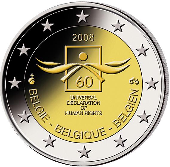 2 Euro 60 Jahre Menschenrechte Münzen Günstigerde