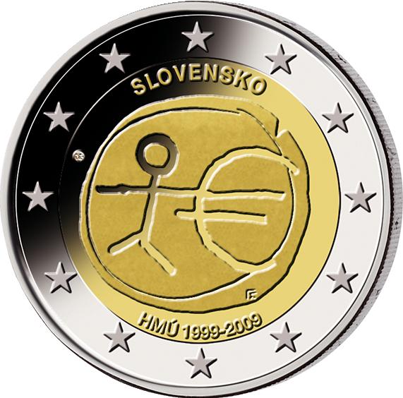 2 Euro Münze Slowakei 25 Jahrestag Der Republik Slowakei 2018 Bfr