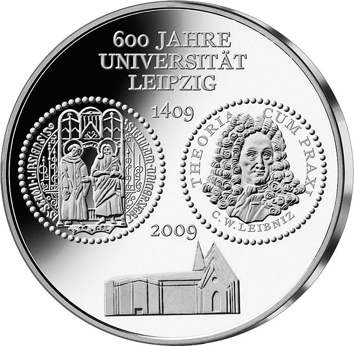 10 Euro Silber Münze Uni Leipzig 2009 10 Euro Münzen Euro Münzen