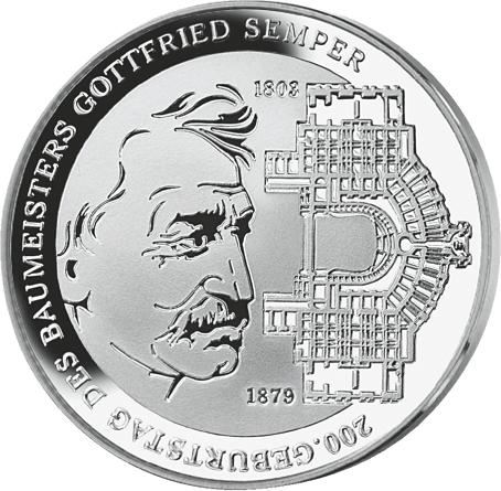 10 Euro Silbermünze Gottfried Semper Brd 2003 Münzen Günstigerde