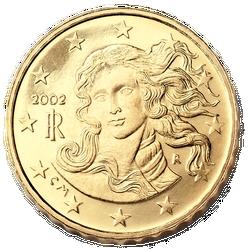 Rückseite 10 Eurocent Italien