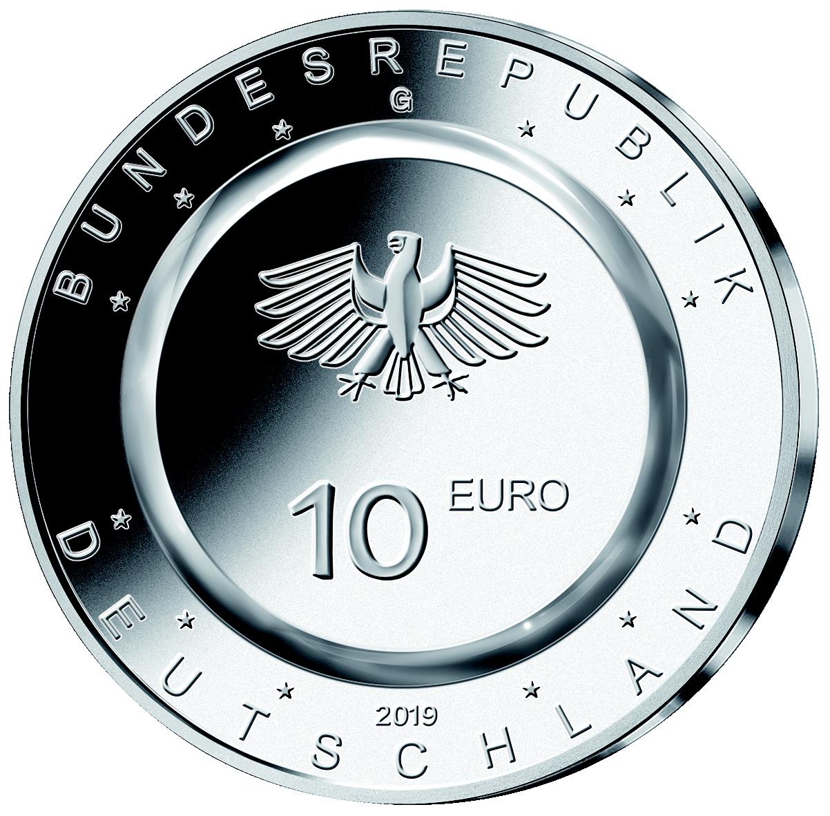 10 Euro Polymer Münze In Der Luft 2019 St Münzen Günstigerde