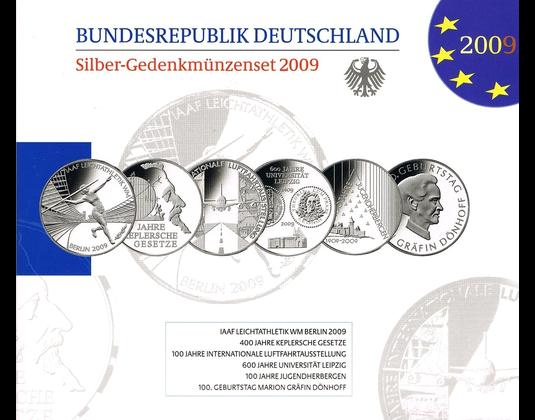10 Euro Münzen Jahressatz 2009 Mdm Deutsche Münze