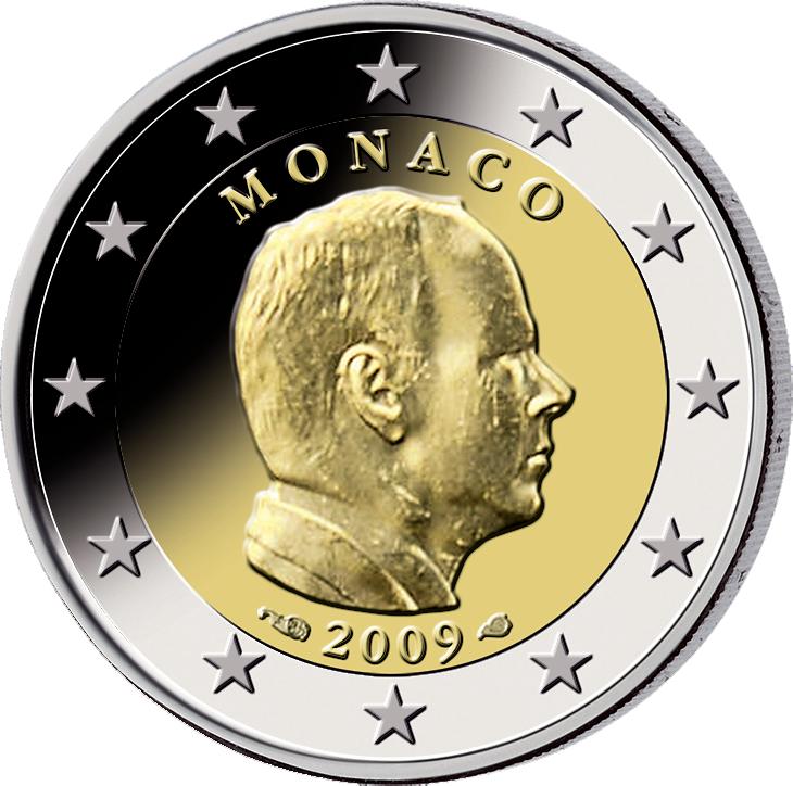 2 Euro Fürst Albert Ii Monaco 2009 Münzen Günstigerde