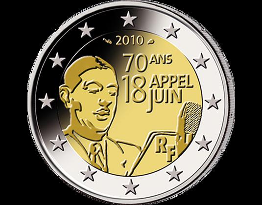2 Euro Frankreich 2010 Appell 18 Juni Mdm Deutsche Münze